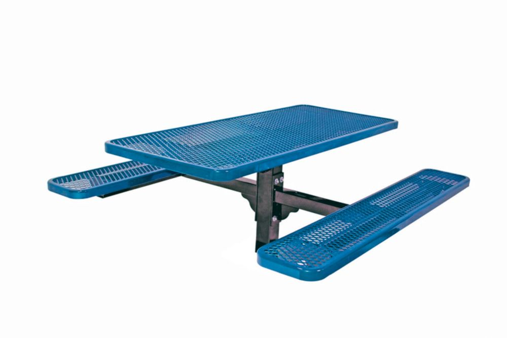 6 ft Commercial Rectangular Table, In Ground- Blue PBK337S-V6B Canada Discount