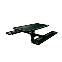 UltraSite 6 ft. Commercial Rectangular In-Ground Table in Black