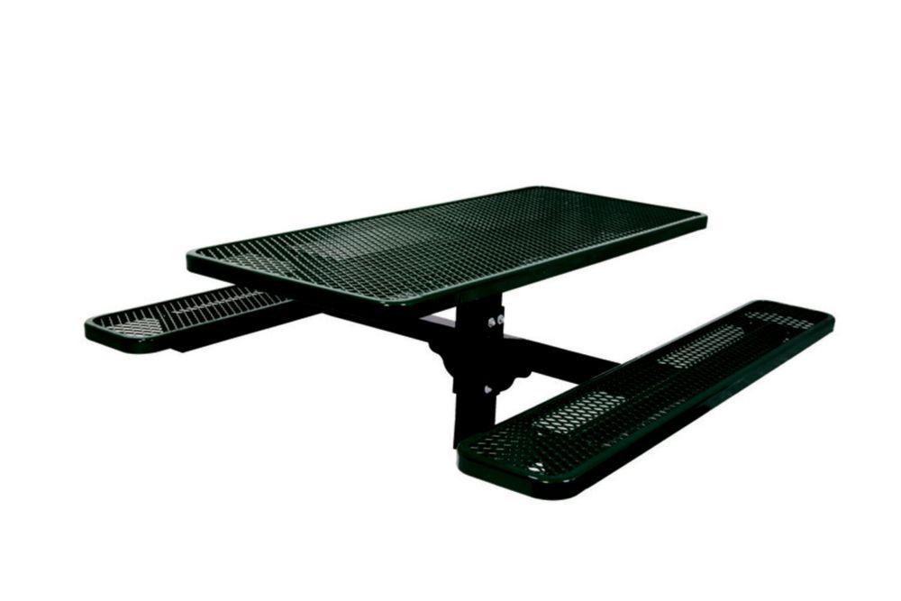Table rectangulaire de 6pi, pouvant être ancré dans le sol- Noir
