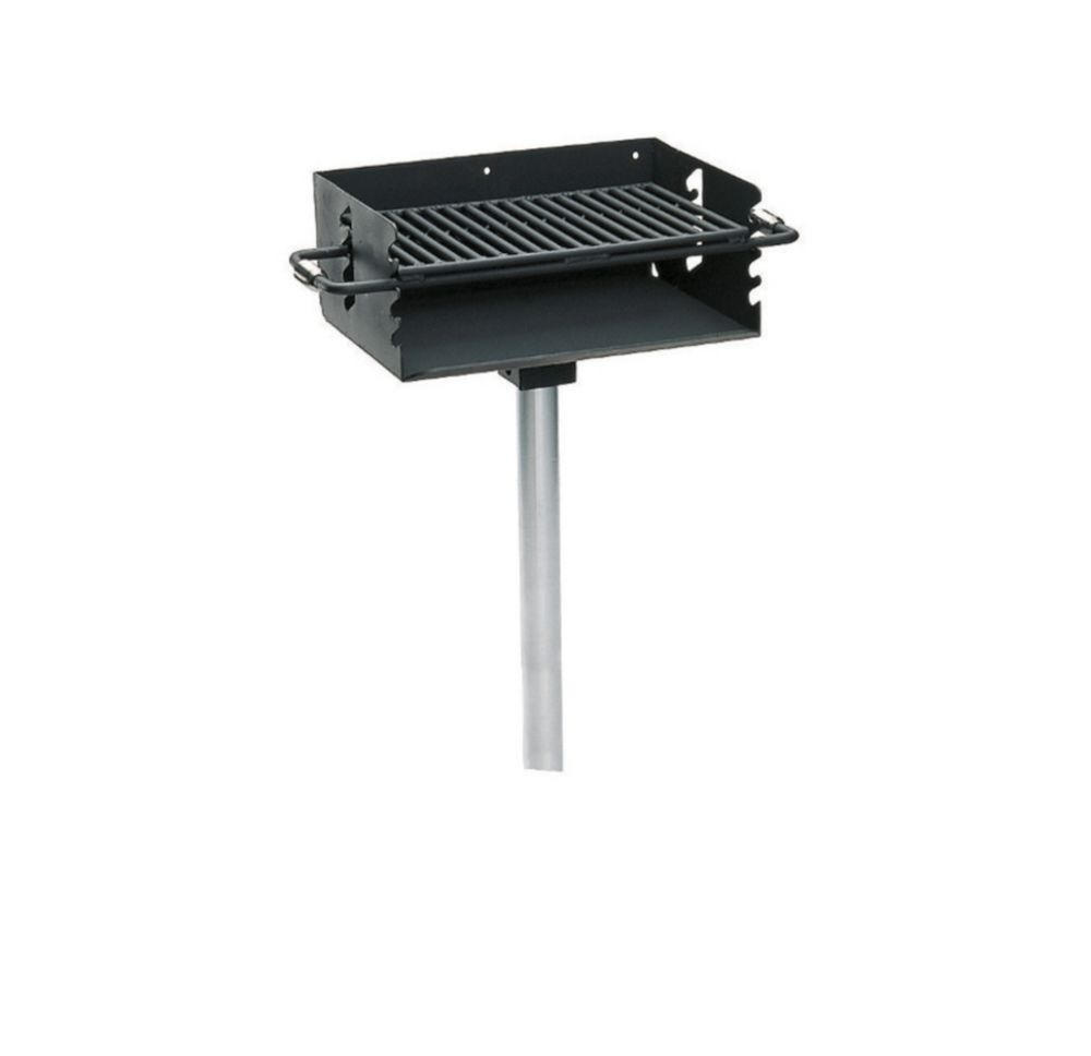 """Commercial Rotating Flip-Back Grill w/ 2-3/8"""" Post"""