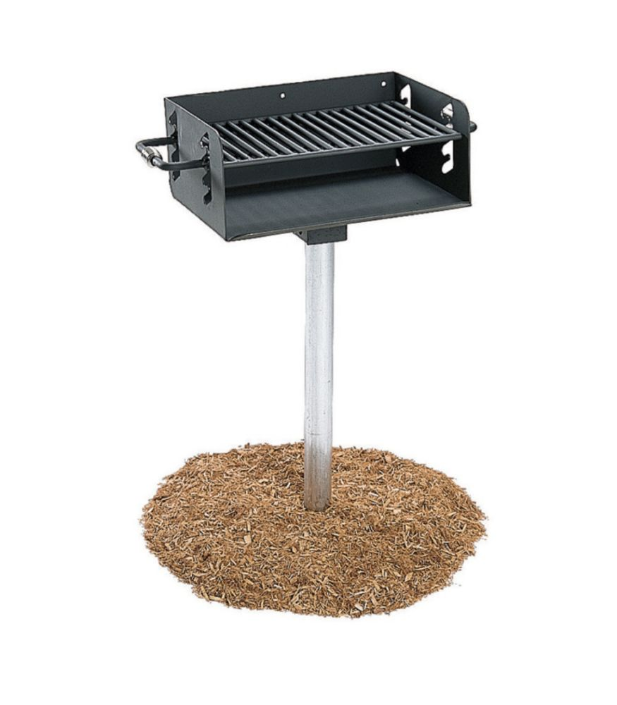 "Commercial Rotating Grill w/ 3-1/2"" Post"