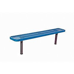 UltraSite 6 ft. Commercial In-Ground Bench in Blue
