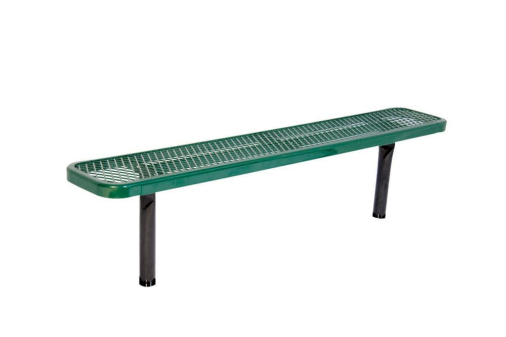 6 ft Commercial Bench, In Ground- Green
