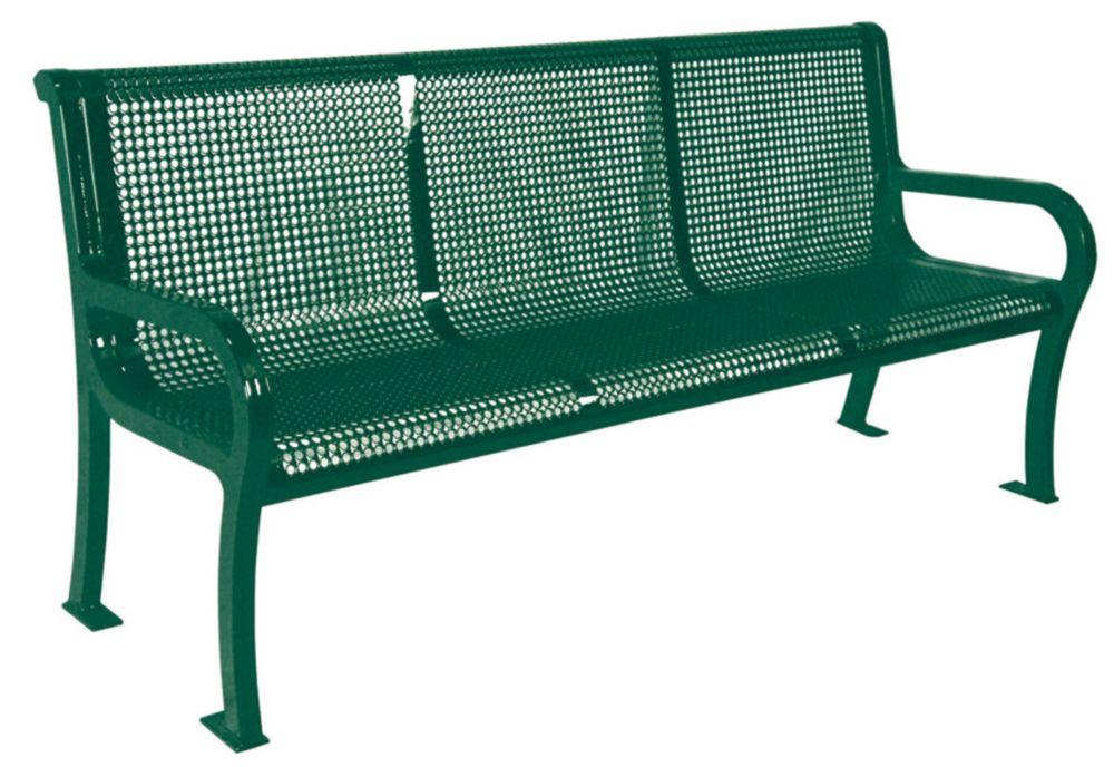 6 ft Commercial Lexington Bench- Green