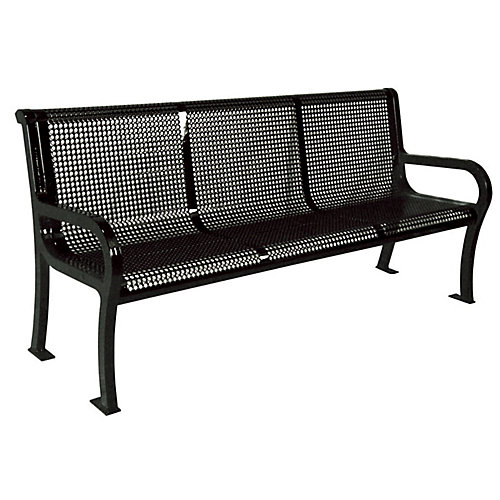 Banc Lexington de 6 pi- Noir