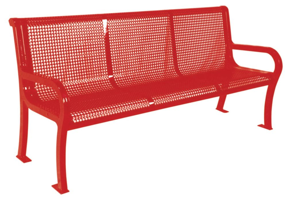 6 ft Commercial Lexington Bench- Red