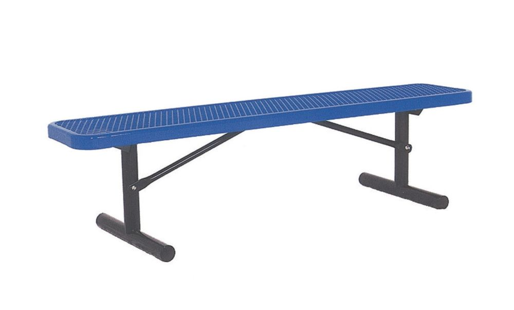 6 ft Commercial Bench, Portable- Blue