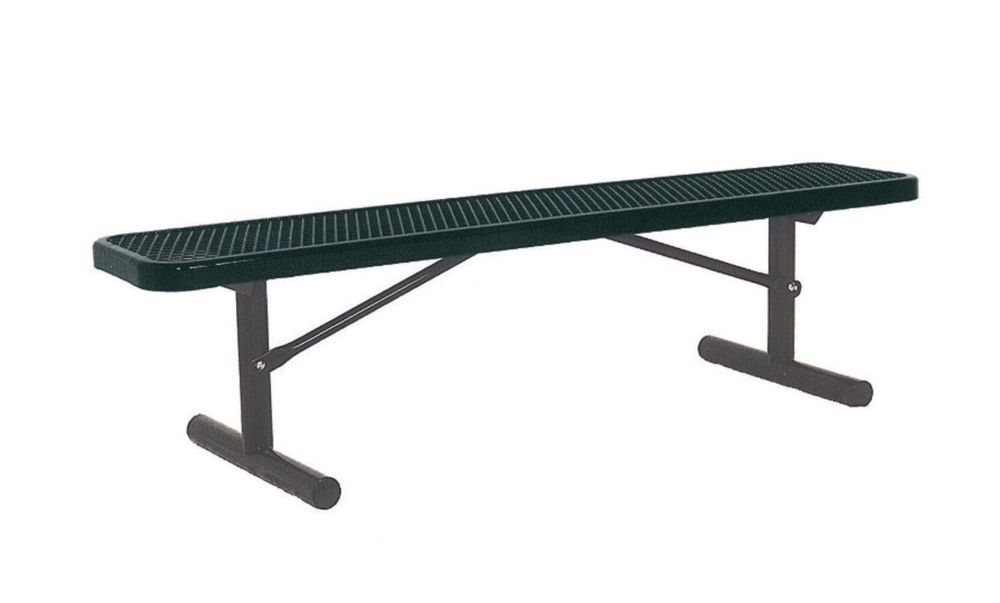 6 ft Commercial Bench, Portable- Black
