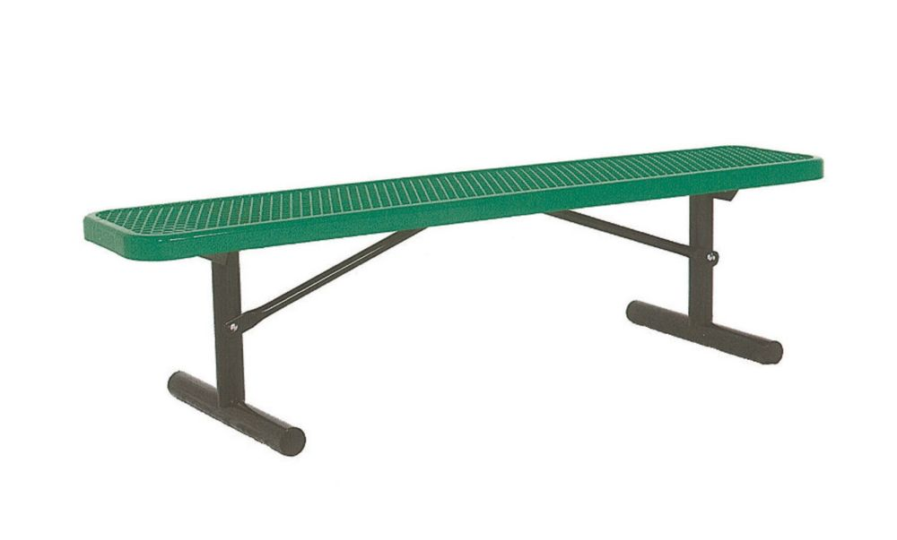 6 ft Commercial Bench, Portable- Green