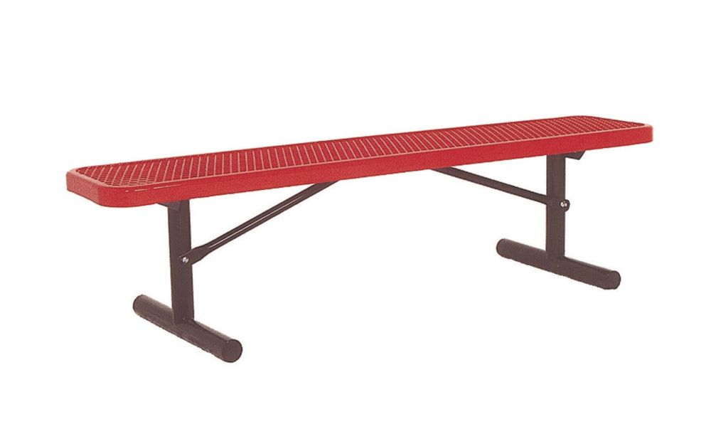 6 ft Commercial Bench, Portable- Red