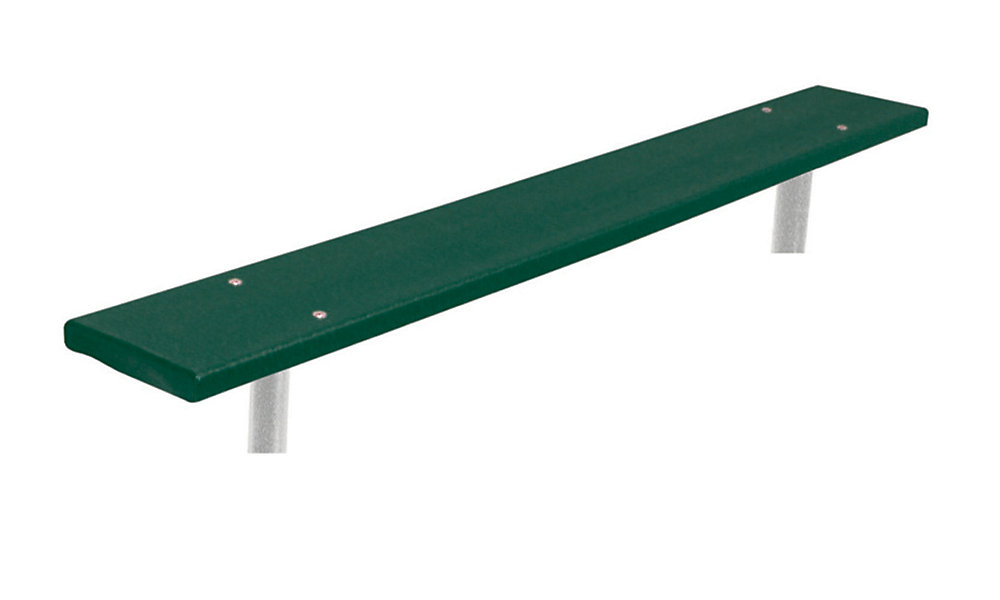 6 ft. Commercial Recycled Plastic In-Ground Bench in Green