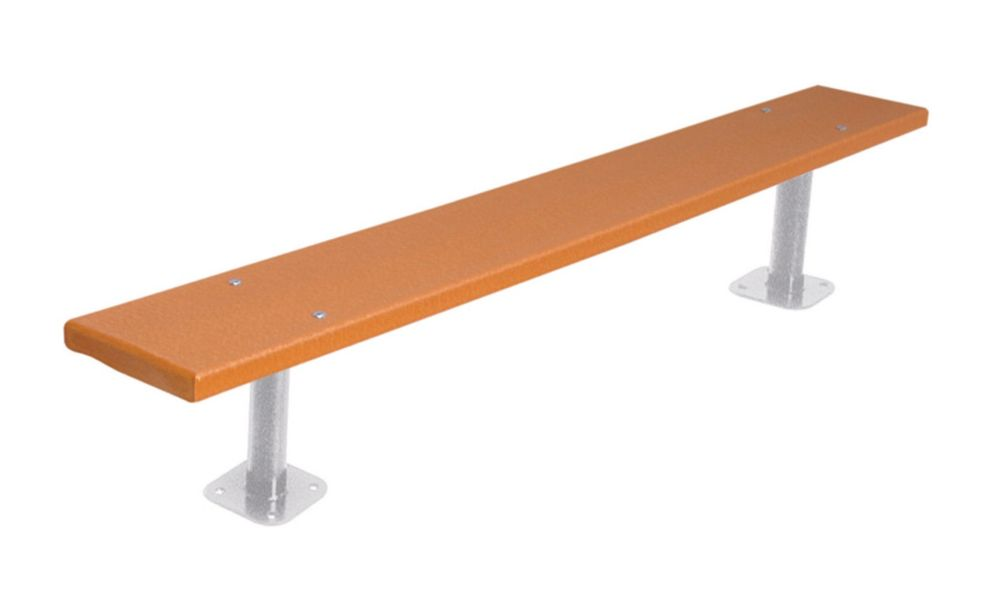6 ft Commercial Recycled Plastic Bench, Surface Mount- Cedar