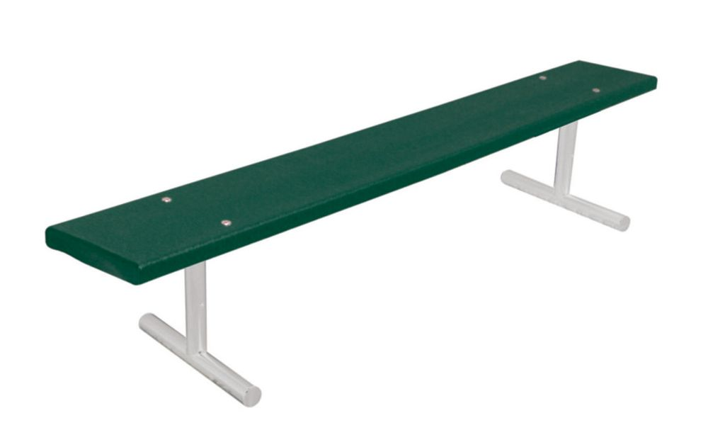 6 ft Commercial Recycled Plastic Bench, Portable- Green G942P-GRN6 Canada Discount