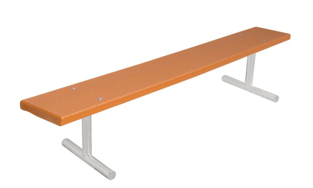 6 ft Commercial Recycled Plastic Bench, Portable- Cedar G942P-CDR6 Canada Discount