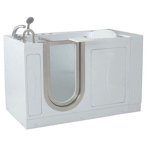 Ella Royal 4 Feet 4-Inch Walk-In Whirlpool Bathtub in White with Swivel Tray