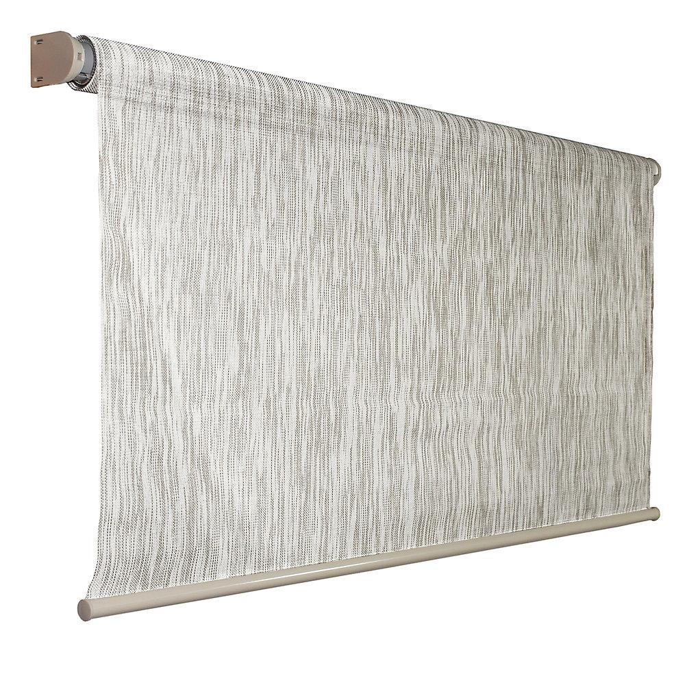Store à enroulement automatique dextérieur Coolaroo couleur bouleau de 243,84 cm x 182,88 cm, bloque 92 % des rayons UV