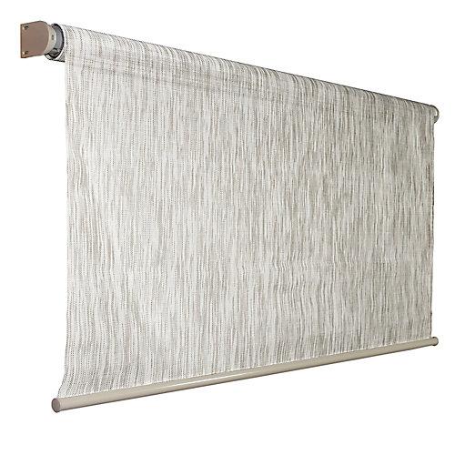 96 inch x 72 inch Birch Exterior Roller Shade, 92% UV Block