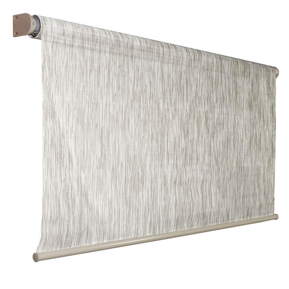 Store à enroulement automatique dextérieur Coolaroo couleur bouleau de 243,84 cm x 182,88 cm, blo...