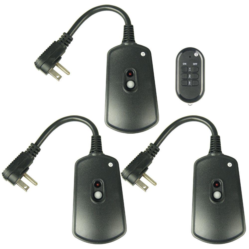 Defiant paquet de 3 interrupteurs de t l commande sans fil for Interrupteur sans fil exterieur