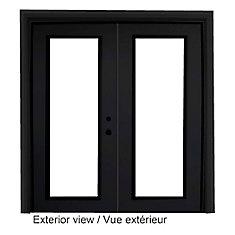 61 inch x 82.375 inch Clear LowE Argon Painted Black Left-Hand Steel Garden Door