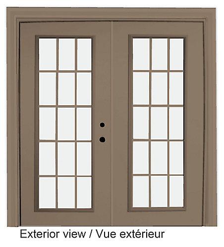 Stanley Doors Porte En Acier Lite Carrelage Intérieur Blanc - Carrelage kaki