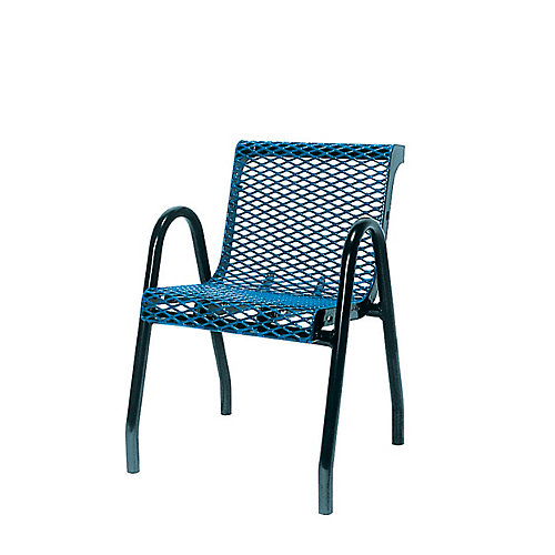 Commercial Food Court Chair in Blue