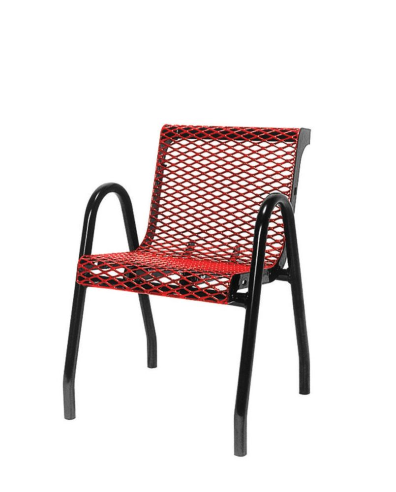 Commercial Food Court Chair- Red