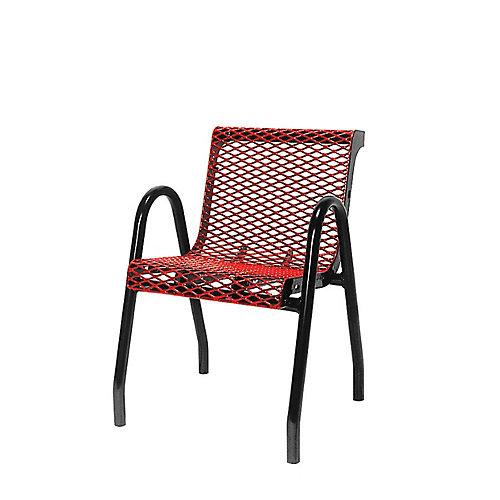 Commercial Food Court Chair in Red
