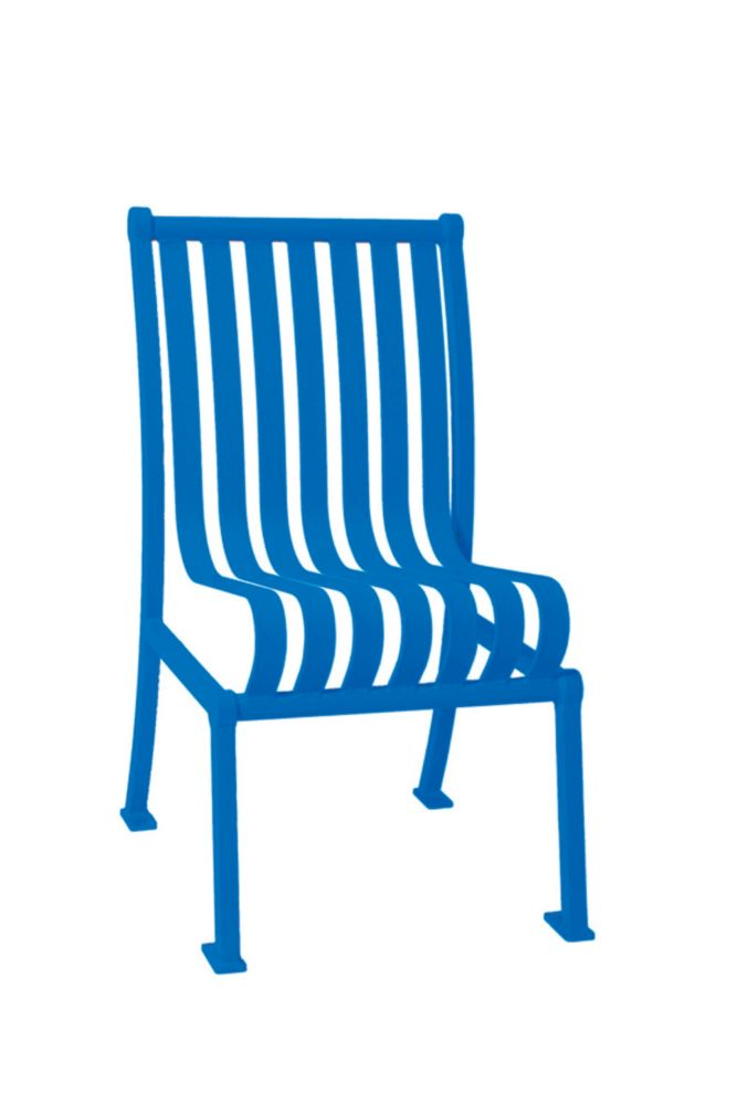 Commercial Hamilton Patio Chair w/o Arm Rests- Blue