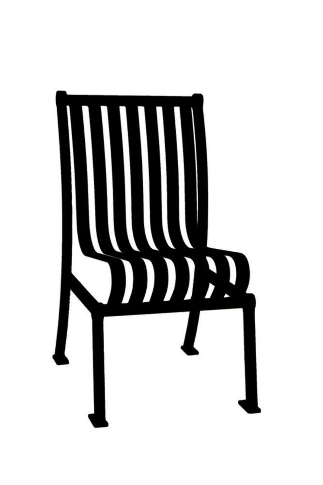 Chaise de jardin Hamilton sans accoudoir- Noir