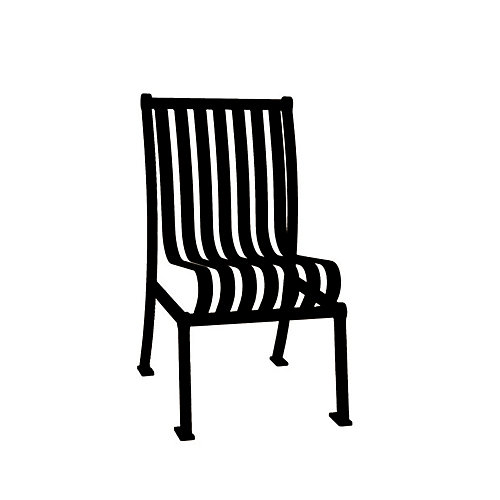 Hamilton Commercial Patio Chair without Arm Rests in Black