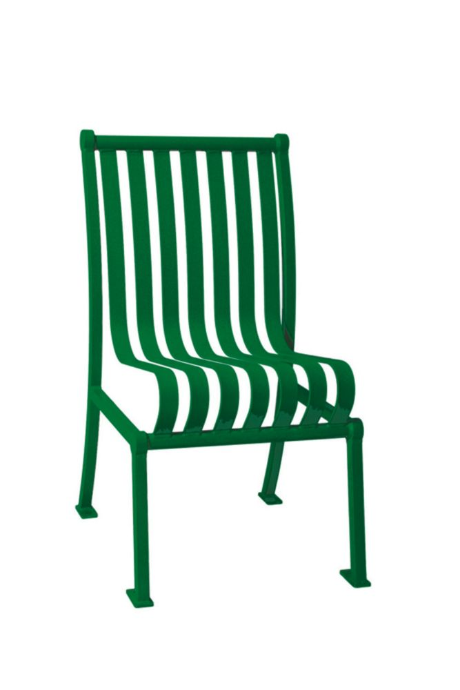Commercial Hamilton Patio Chair w/o Arm Rests- Green