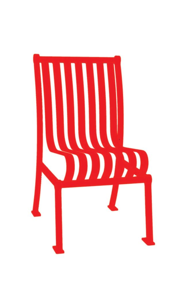 Commercial Hamilton Patio Chair w/o Arm Rests- Red