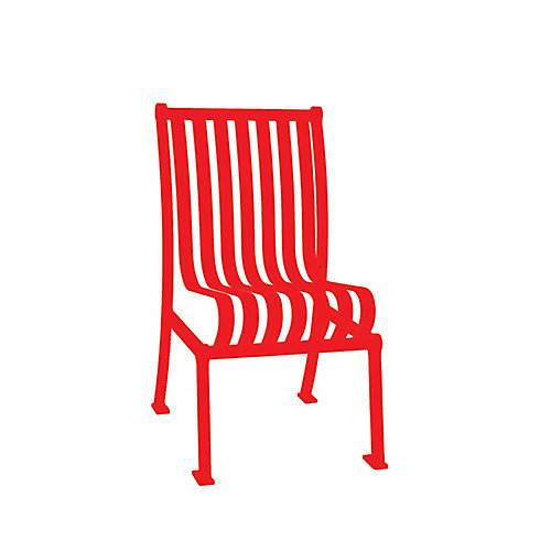 Hamilton Commercial Patio Chair without Arm Rests in Red
