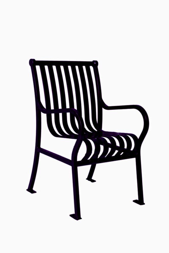 Chaise de jardin Hamilton- Noir