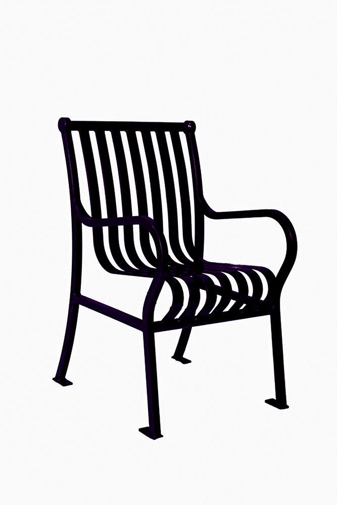 Hamilton Commercial Patio Chair in Black