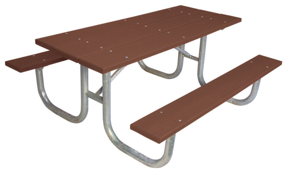 6 ft Commercial Recycled Plastic Table- Brown