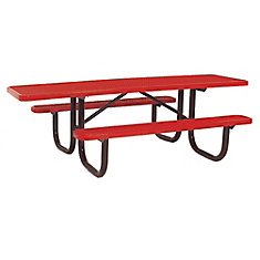Table très durable de 8pi de lADA- Rouge