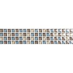 3-inch x 12-inch Glass Listello Wall Tile in Beton