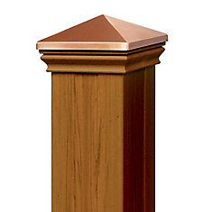 4 Ft. - Post Sleeve Kit  (with matchIng cap & base collar) - Cedar - Railing