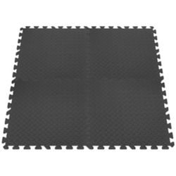 Connect-A-Mat Anti-Fatigue Interlocking Mats - Grey - 24 Inches x 24 Inches (4-Pack)