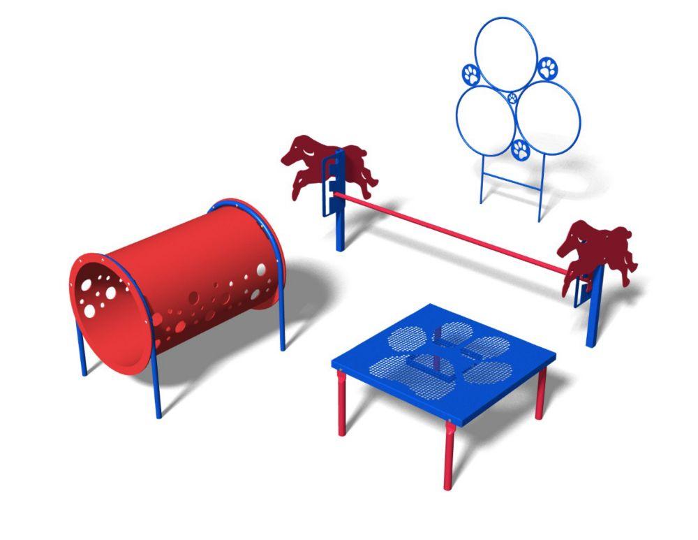 Bark Park Novice Course Commercial Playful Colours