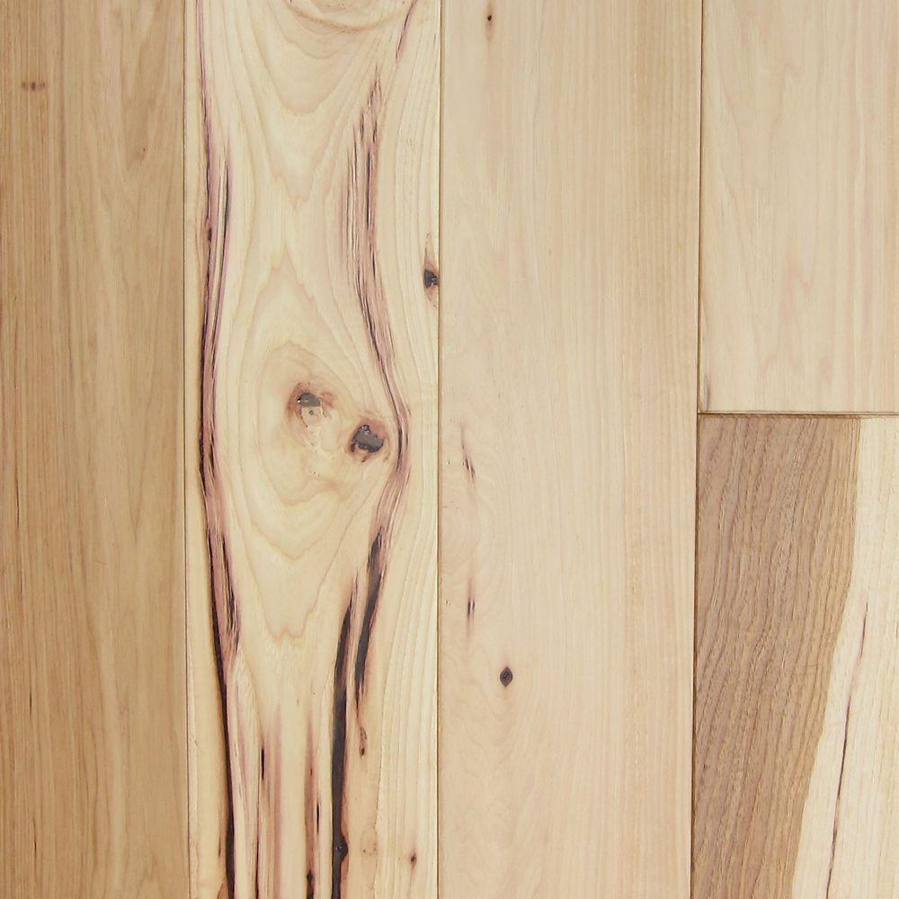 Plancher de bois franc massif 3/4po Caryer naturel 3po (24  Pi. carré par caisse)