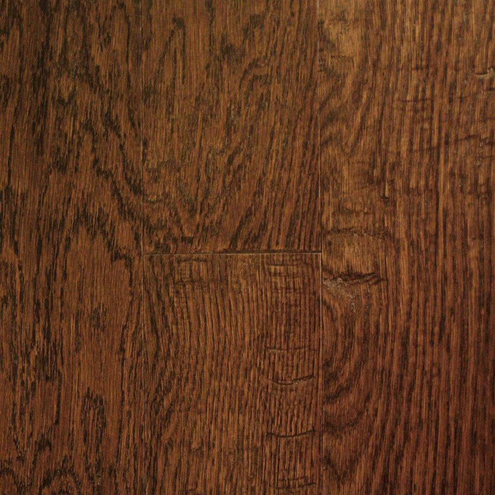 5 Inch Oak Ebony Hand Sculpted 1/2 Inch Engineered Hardwood Flooring (24.35  Sq.Ft./Case)