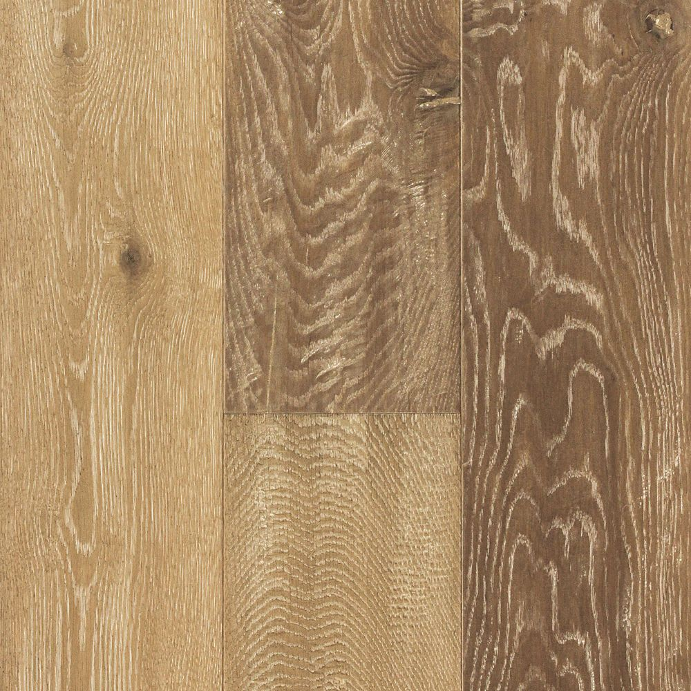 7 Inch Oak Latte Wire Brushed 1/2 Inch Engineered Hardwood Flooring (17.53  Sq.Ft./Case)