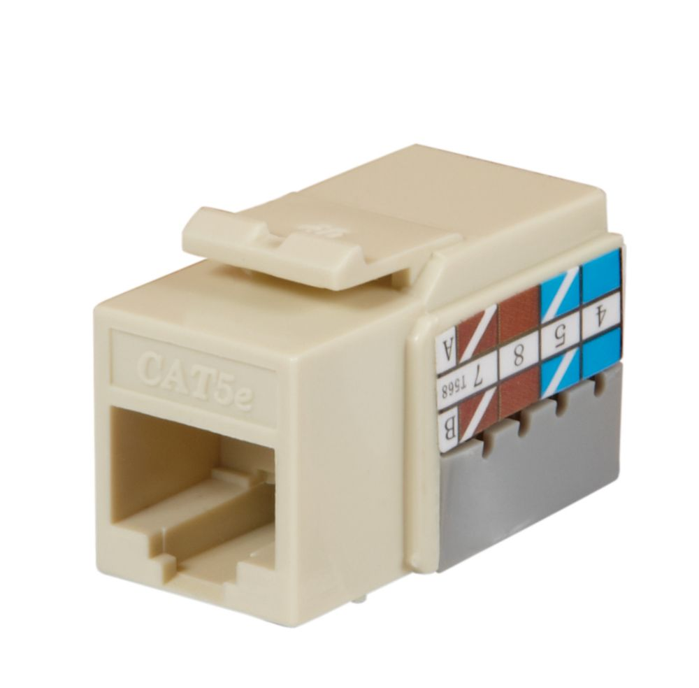 Commercial Electric 1-PORT wall plate, LT. ALMOND