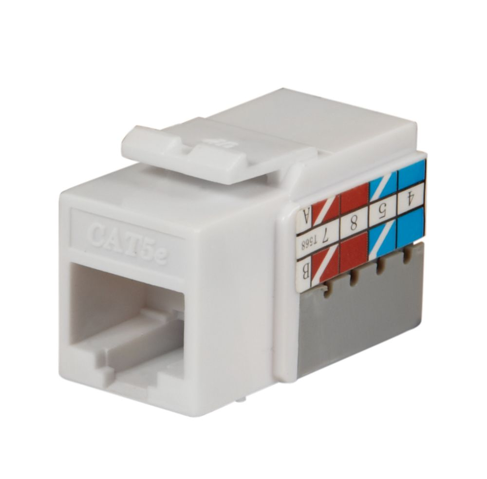 Commercial Electric CAT 5E JACK, WHITE, 25 PK