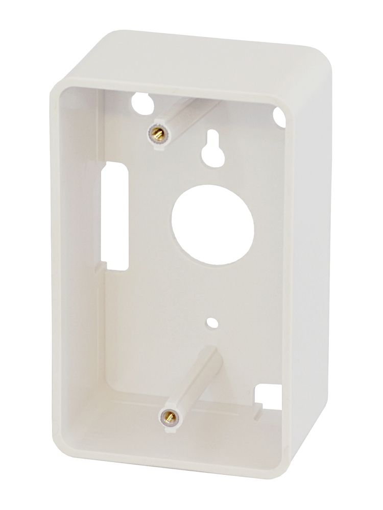 Commercial Electric 2-PORT WALLPLATE, LT. ALMOND