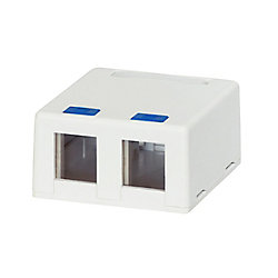 Commercial Electric 2-Port Category 5e and Category 6 Surface Mounting Box