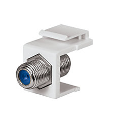 Nickel-Plated F-Connector in White